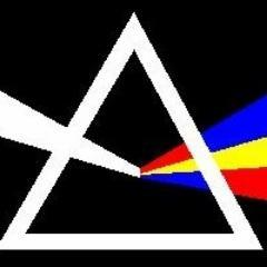 Triangle with prism, logo