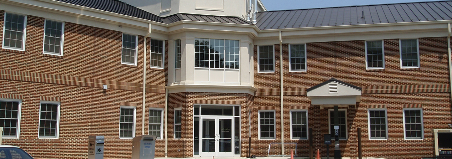 Exterior shot of Clarke County Library