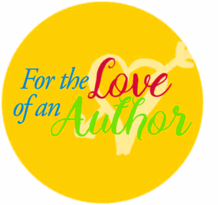 for the love of an author logo with heart