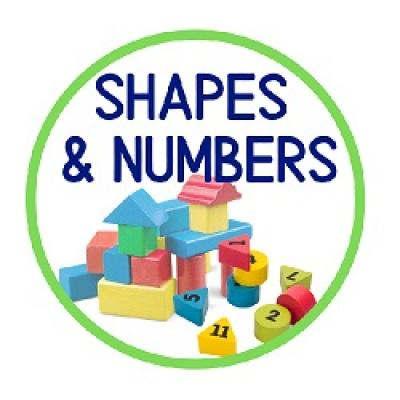 shapes and numbers badge