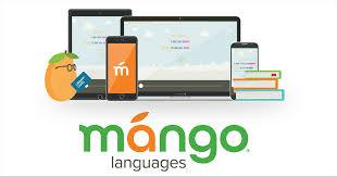 Mango Lanuages logo with devices