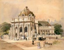 Handley Library 1902 Watercolor