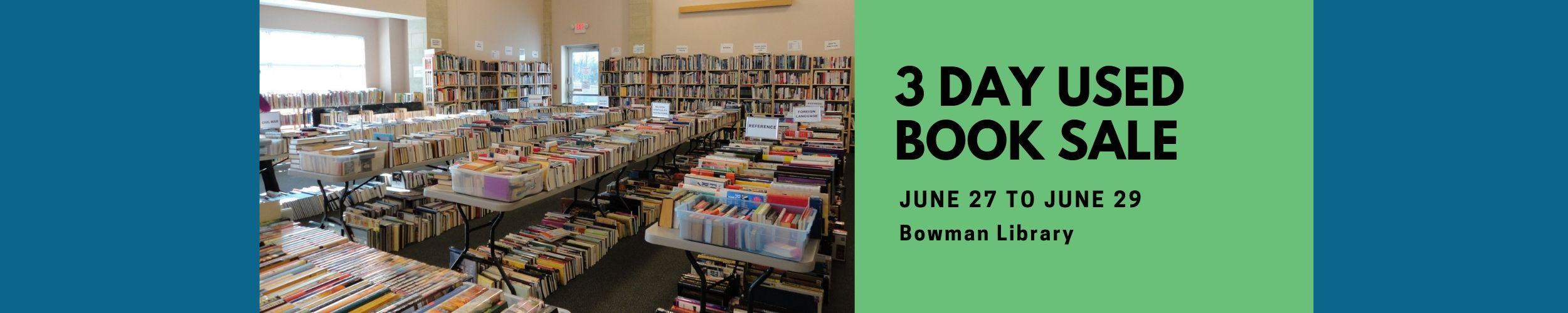 3 Day Used Book Sale