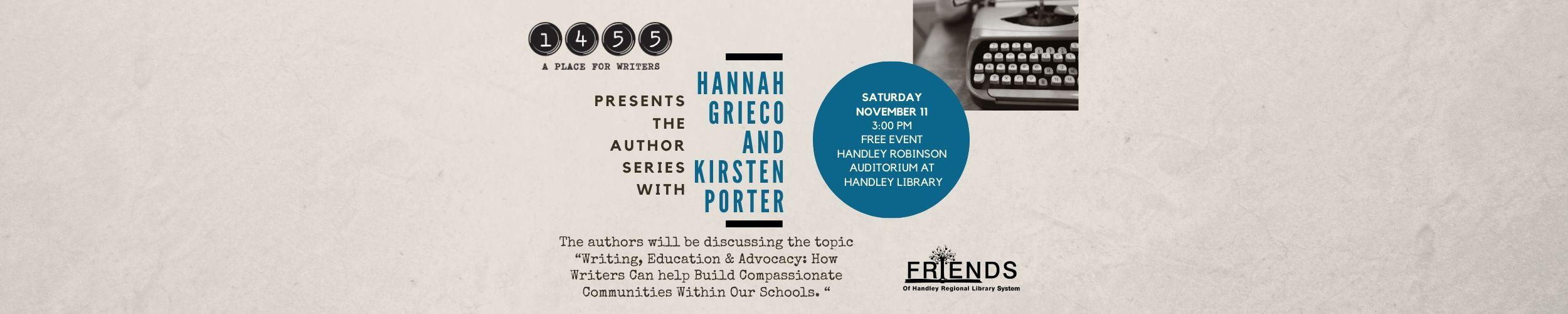 1455: Hannah Grieco and Kirsten Porter