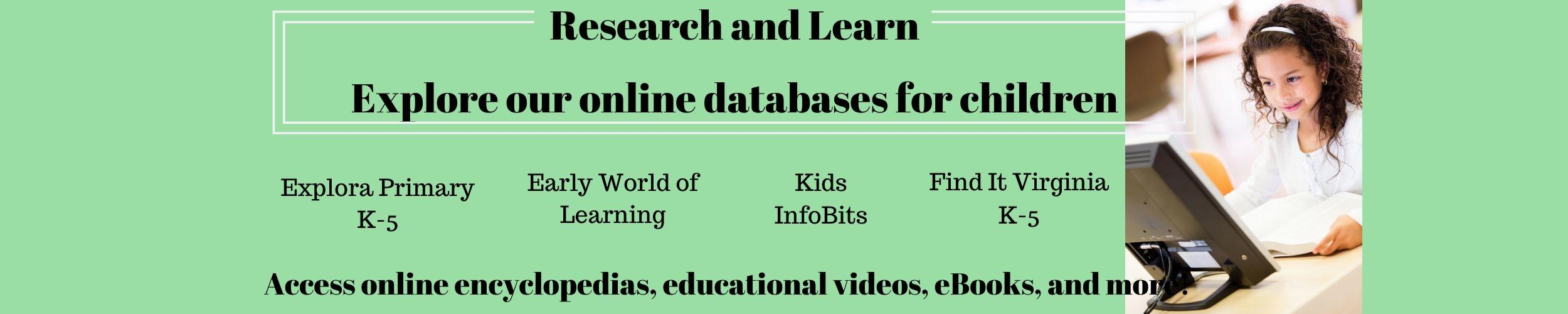 research and learn online databases for kids