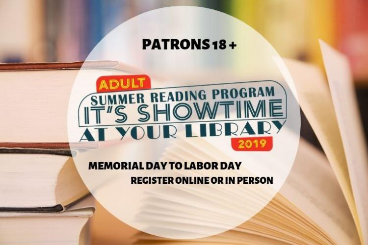 adult summer reading program 2019 homepage