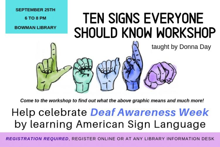 TEN SIGNS EVERYONE SHOULD KNOW WORKSHOP