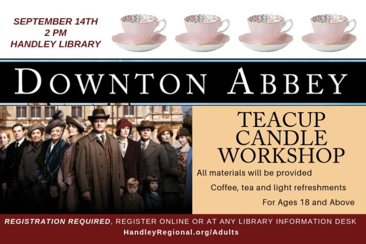DOWNTON ABBEY TEACUP CANDLE