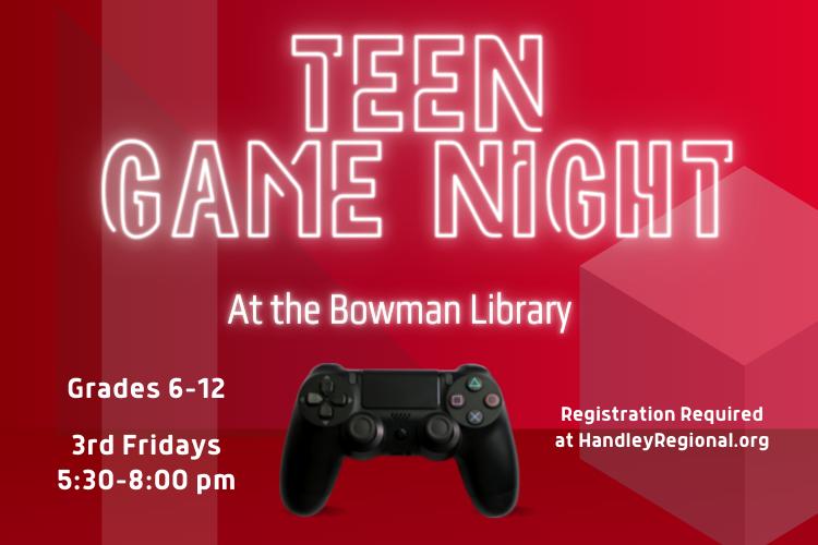 Teen Game Night Slide